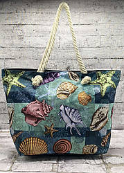 """Пляжная сумка """"starfish""""с канатными ручками Цвет: Чёрный"""