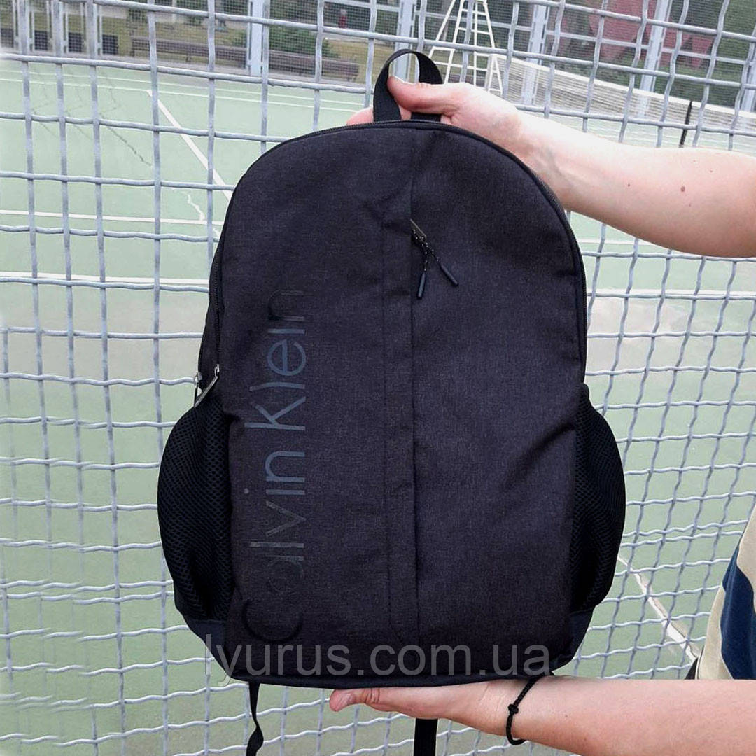 Стильний чорний рюкзак Calvin Klein, кельвін на 2 відділення.