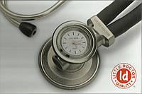 Стетоскоп LD SteTime Кварцевые часы легко устанавливаются на головку в место одной из диафрагм.