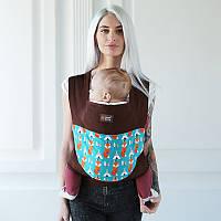 """Май слинг """"Лисички"""" Лав & Carri для прогулянок жарким літом з натур тканини Діагонального плетіння Mei Tai"""