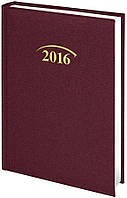 Ежедневник Brunnen 2016 карманный Shine з/т бордовый
