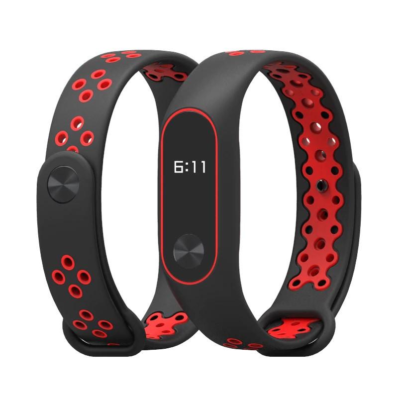 Ремешок Nike design bracelet для фитнес браслета Xiaomi Mi Band 2 Black with red