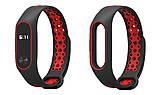 Ремешок Nike design bracelet для фитнес браслета Xiaomi Mi Band 2 Black with red, фото 2