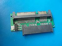 Адаптер micro SATA 1.8 (16 pin) ― 2.5 SATA 22pin SSD mSATA подлючение замена установка