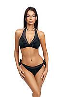 Эффектный раздельный купальник женский черный Self S 1061 WP1