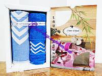 Набор для сауны First Choice 100% бамбук синий Турция