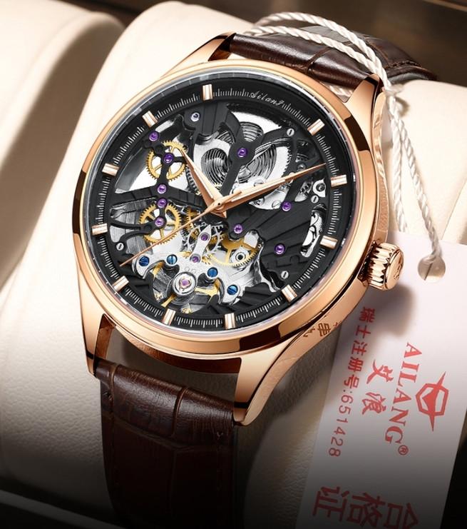 Чоловічі наручні годинники механічні Ailang Profi