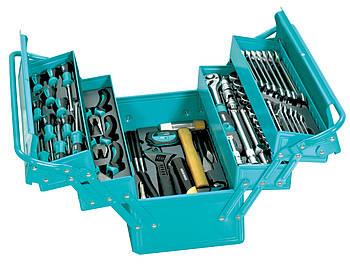Набор инструментов Whirlpower 85 ед. в металлическом ящике