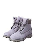Ботинки мужские Timberland 6 (тимберленд, тимбы, тимберленды) серые