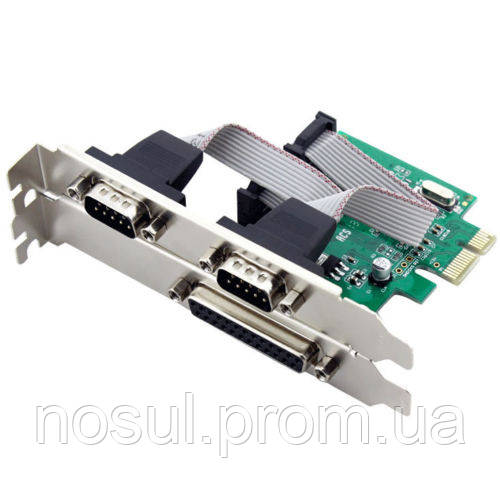 Контроллер PCIE - RS232 + IEEE 1284 LPT (2 port COM + 1 port LPT)