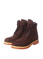 Мужские ботинки Timberland 6 inch коричневые, ботинки тимберленд, тимберленд обувь, тимберленды мужские
