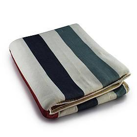 Электропростынь з сумкою electric blanket 150*120 різнокольорові смужки
