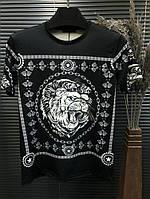 Футболка Givenchy black (лев)
