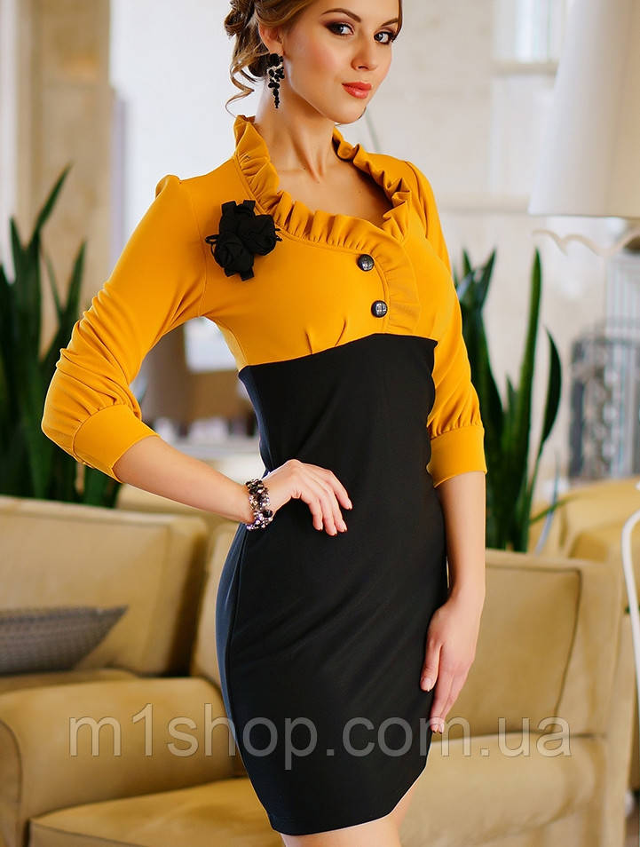 Платье двухцветное | Роза 2 lzn