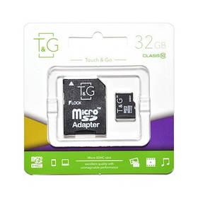 Карта пам яти microSDHC (UHS-1) 32GB class 10 T&G (з адаптером)