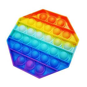М яка іграшка Поп іт Нескінченна пупирка антистрес восьмикутник Pop It fidget (Без повернення)
