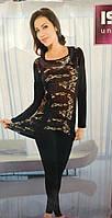 Пижама с лосинами удлиненная туника
