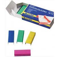 Скобы к степлера BUROMAX 4421 (№10) (20л) 1000шт цветные (1/10/1000)