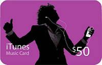 Пополнение счета iTunes Gift Card $50 USA