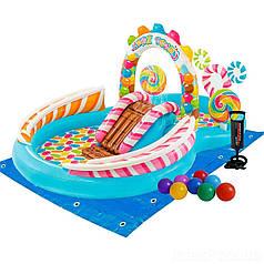 Детский надувной игровой центр бассейн (игровой комплекс) Территория Сладостей Intex 57149