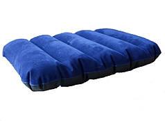 Надувная флокированная подушка синяя Intex 68672