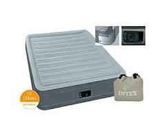 Надувная кровать односпальная 99х191х33 см со встроенным электронасосом, Intex 67766