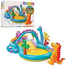 """Игровой центр надувной детский """"Планета Динозавров"""" Intex 57135"""