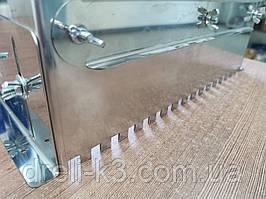 Гребінка розсувна універсальна для укладання плитки нержавіюча сталь (зуб 10x10 мм)