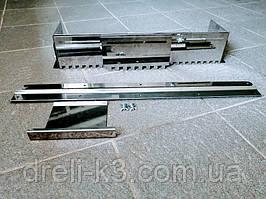 Гребінка розсувні універсальна для укладання плитки нержавіюча сталь (зуб 14х14мм)+дод вставка зуб 14х14мм