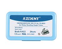 Orthodontik Buccal Tubes, набор 80 шт, замки для брекетов, AZDENT