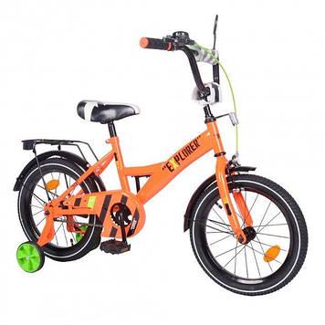 """Двухколесный велосипед для детей с надувными и съёмными страховочными колесами 16"""" Велосипед для детейот 3-х"""
