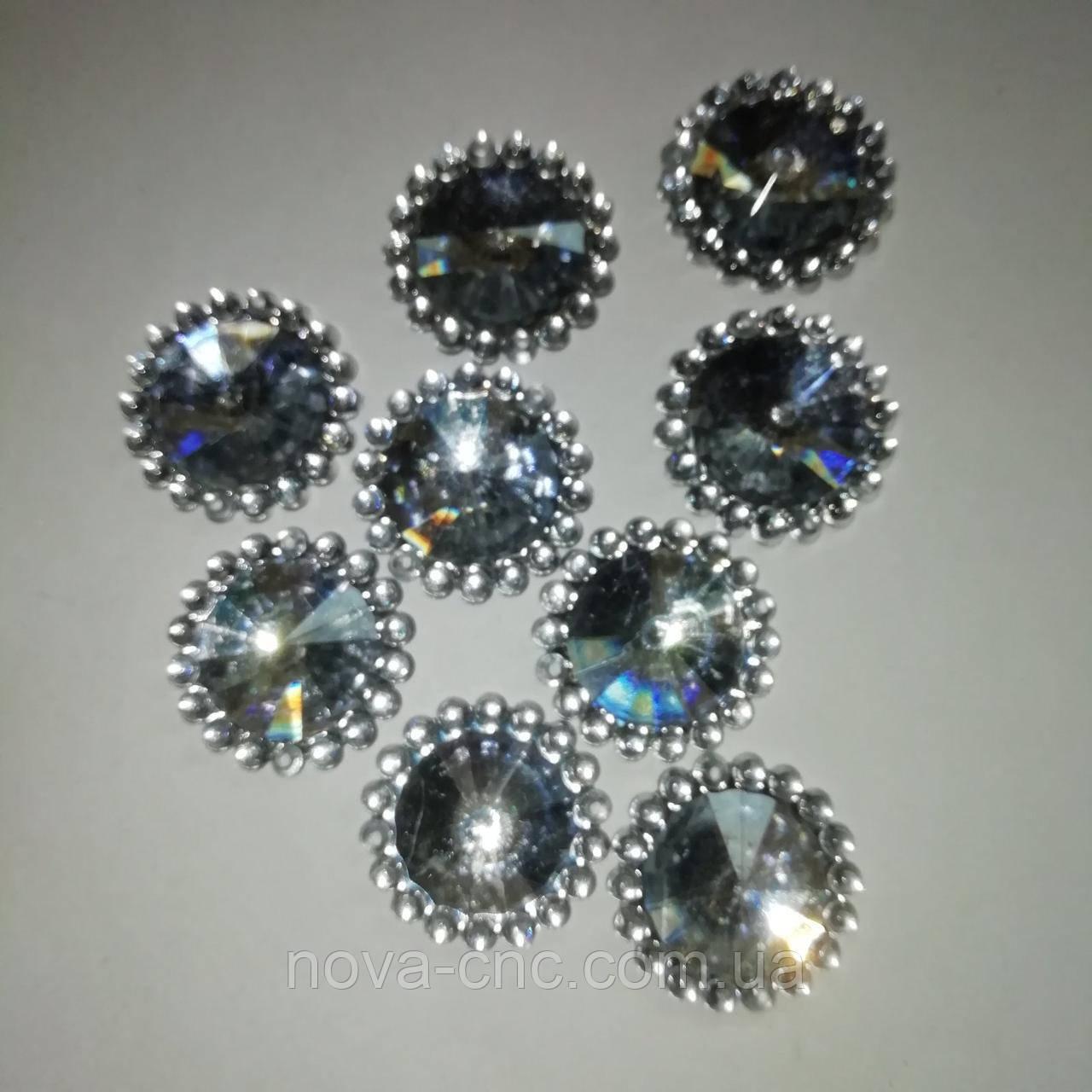 Акрилові Кабошони сріблястий 20 мм 50 шт