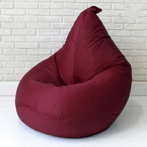 Безкаркасне крісло груша - оксфорд бордовий 105х85, фото 2