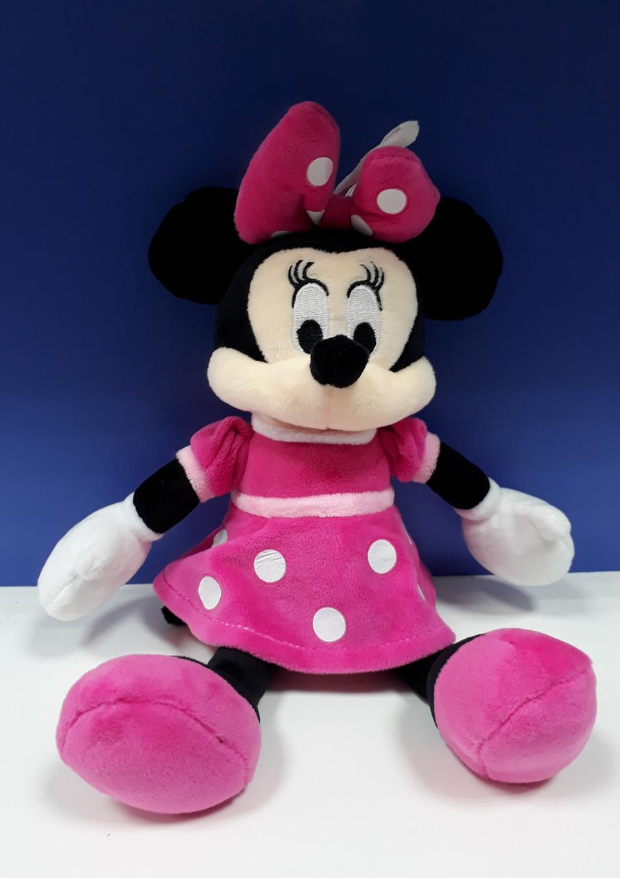 М'яка іграшка Мінні Маус Сонечко 31 см в рожевій сукні з петелькою