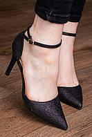Женские туфли-лодочки на шпильке. Черного цвета. Размер 36-40, фото 1