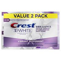 Отбеливающая зубная паста Crest 3D White Brilliance Vibrant Peppermint 110 грамм