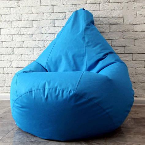 Безкаркасне крісло груша - оксфорд блакитний 105х85, фото 2