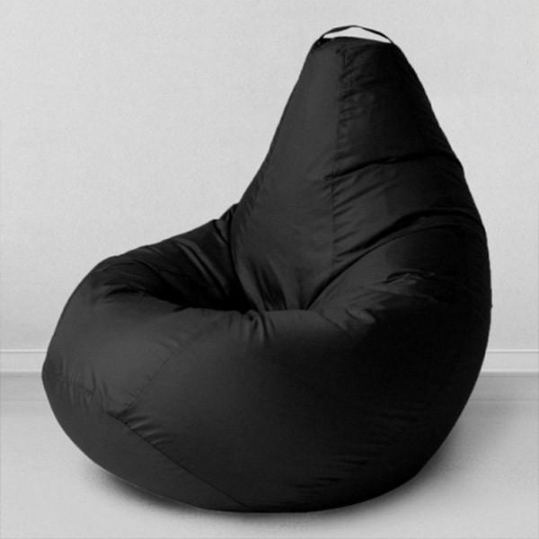 Безкаркасне крісло груша - оксфорд чорний 105х85