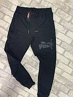 """Спортивні штани чоловічі з принтом і написом PUMA,р. M-2XL """"COMMON"""" недорого від прямого постачальника"""