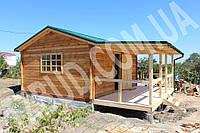 Дачный деревянный дом из бруса