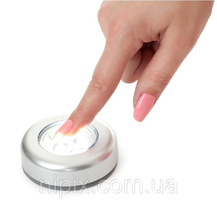 """Светодиодные накладные светильники """"Нажми меня"""" - набор 3 шт"""
