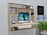 Навесной компьютерный стол ZEUS AirTable-III WT (санома/белый), фото 1