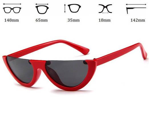 Женские солнцезащитные очки полукруг (арт. 97370/3) Красный, фото 2