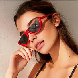 Женские солнцезащитные очки полукруг (арт. 97370/3) Красный