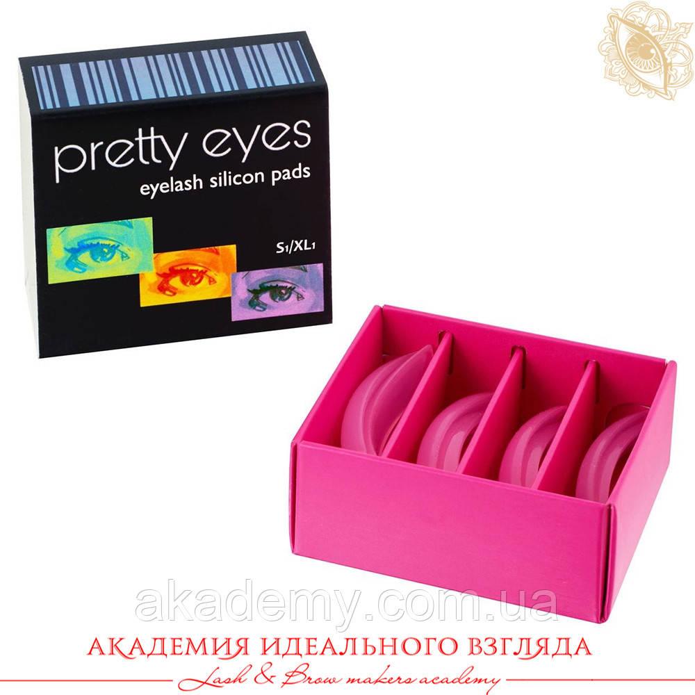 Pretty Eyes Набір валиків 4 пари S1-XL1 (пружні), рожеві