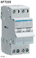 Переключатель ввода резерва I-0-II трехпозиционный 2P, 25А, SFT225 Hager