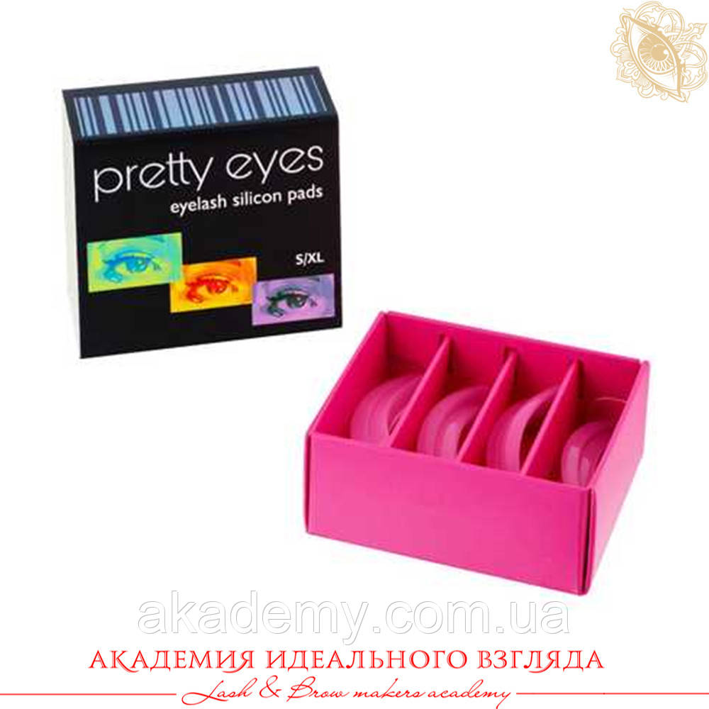 Pretty Eyes Набор валиков 4 пары S-XL(упругие), розовые