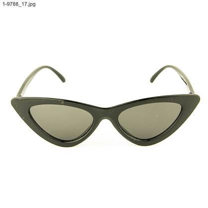 Женские солнцезащитные очки полукруг (арт. 9788/1) Черный, фото 2