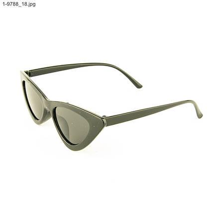 Женские солнцезащитные очки полукруг (арт. 9788/1) Черный, фото 3