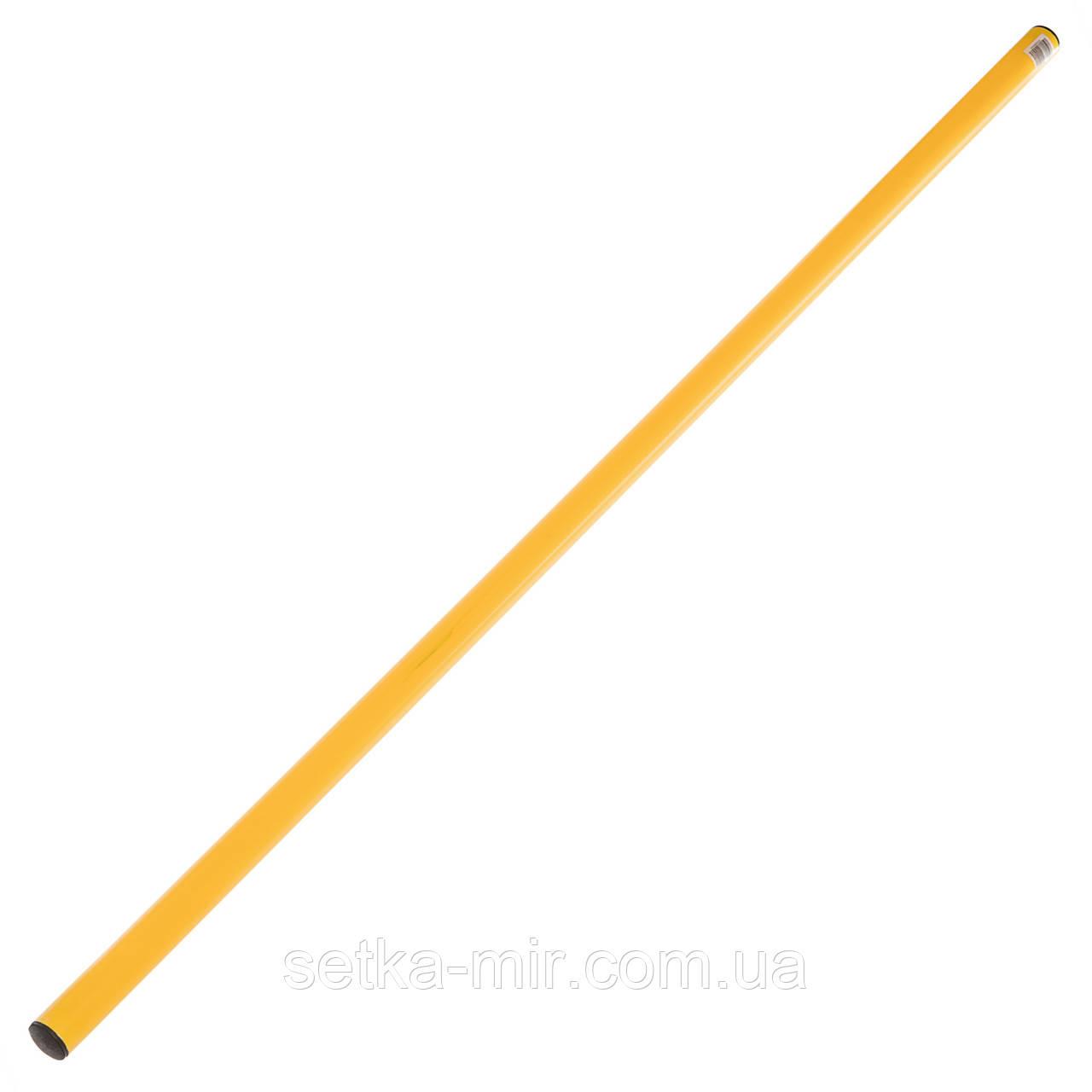 Палка гимнастическая тренировочная (штанга) пластик 1м, цвета в ассортименте